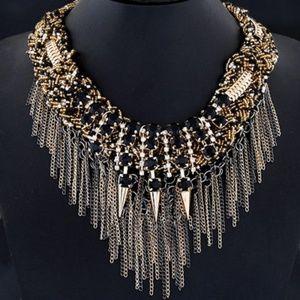 Rave black gemstone rivet